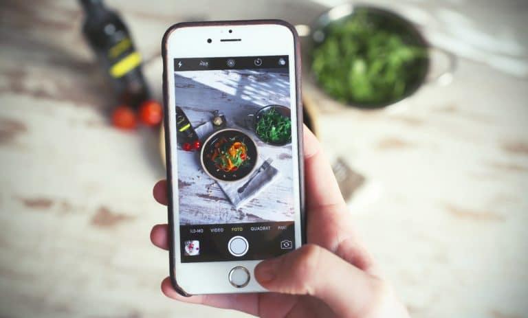 Smartphone Essen Fotografieren